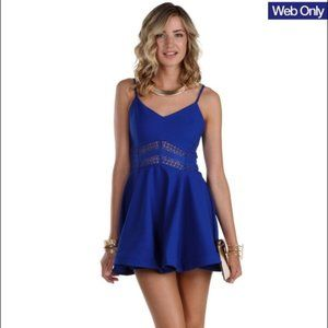 Windsor Cobalt Blue Skater Dress Size Small